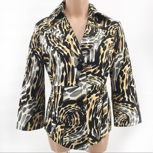 Rafaella~Jacket/Blazer~3/4 Sleeves~Animal Print